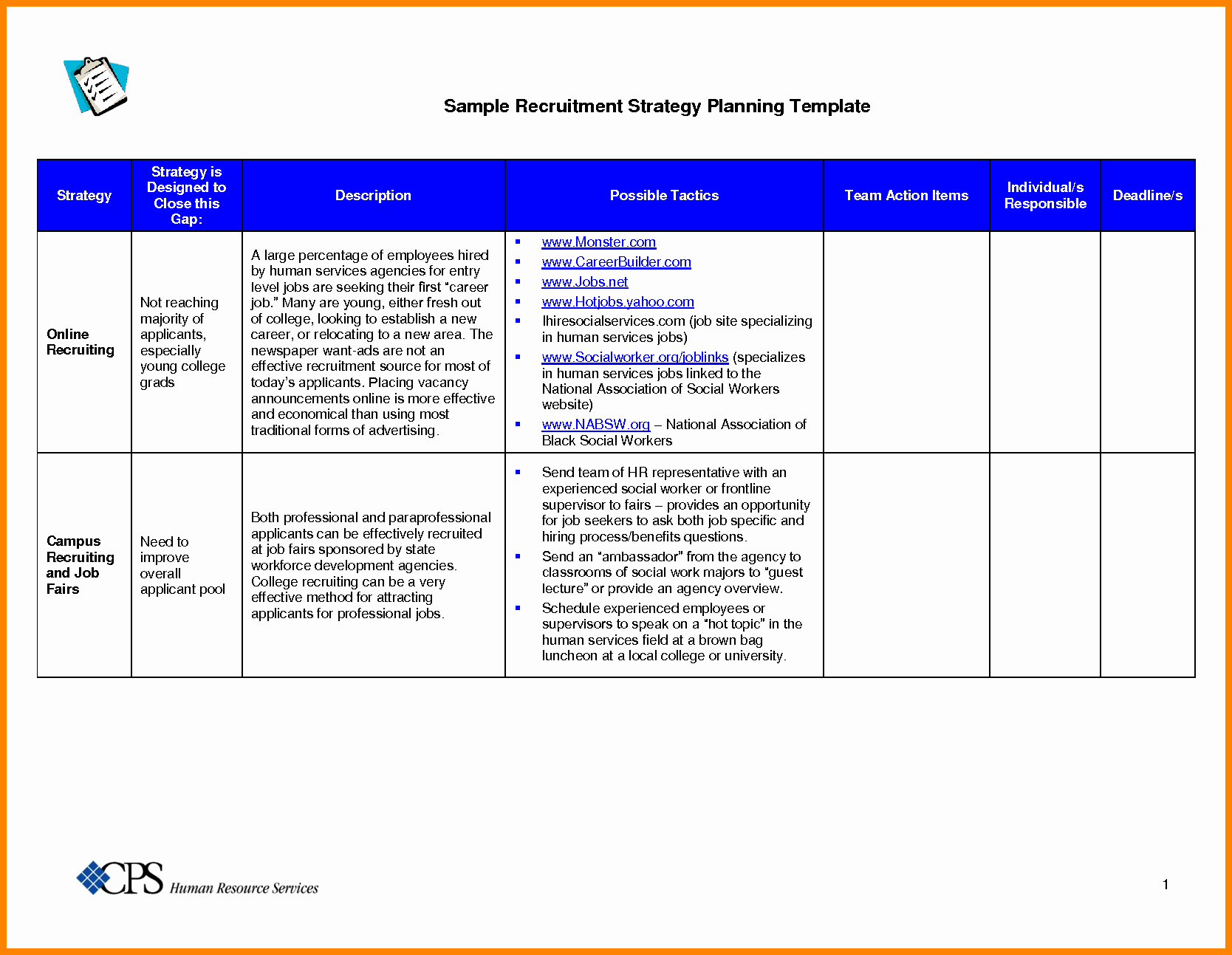 Recruiting Strategic Plan Template Inspirational 10 Recruitment Strategy Template