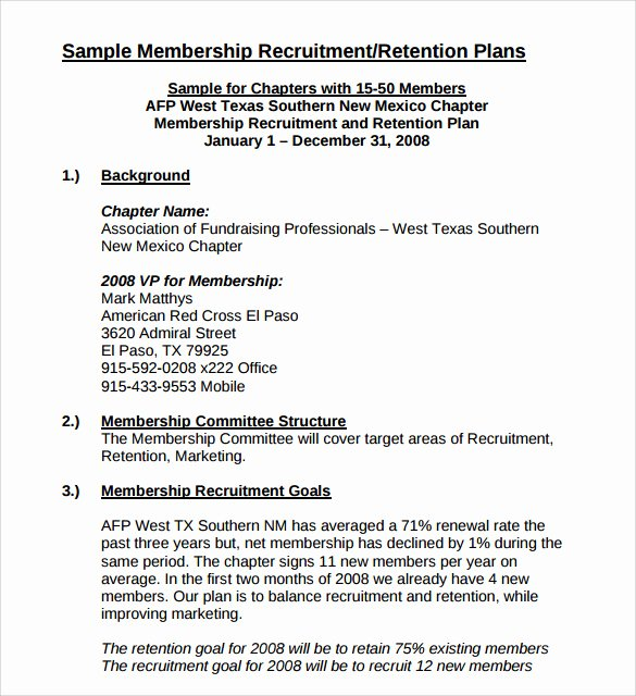 Recruiting Strategic Plan Template Luxury 8 Recruitment Plan Templates Download for Free
