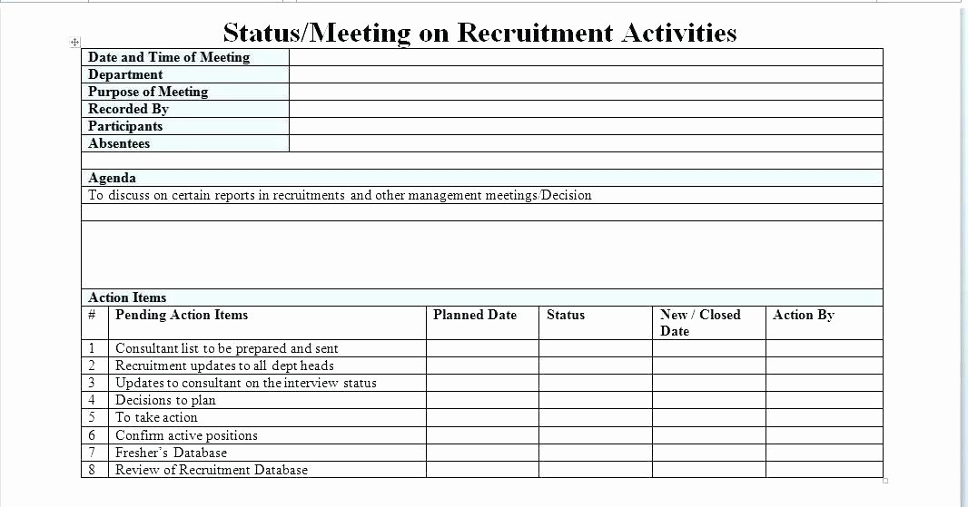 Recruitment Action Plan Template Inspirational Action Plan Examples Word Recruitment Template Excel