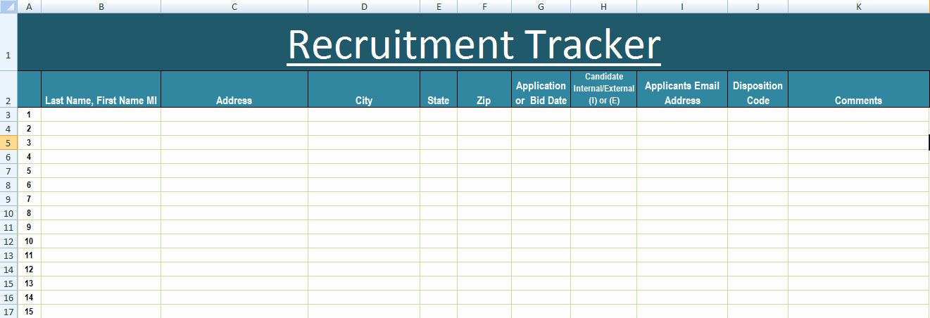 Recruitment Plan Template Excel Best Of Recruitment Tracker Excel Template Xls – Microsoft Excel