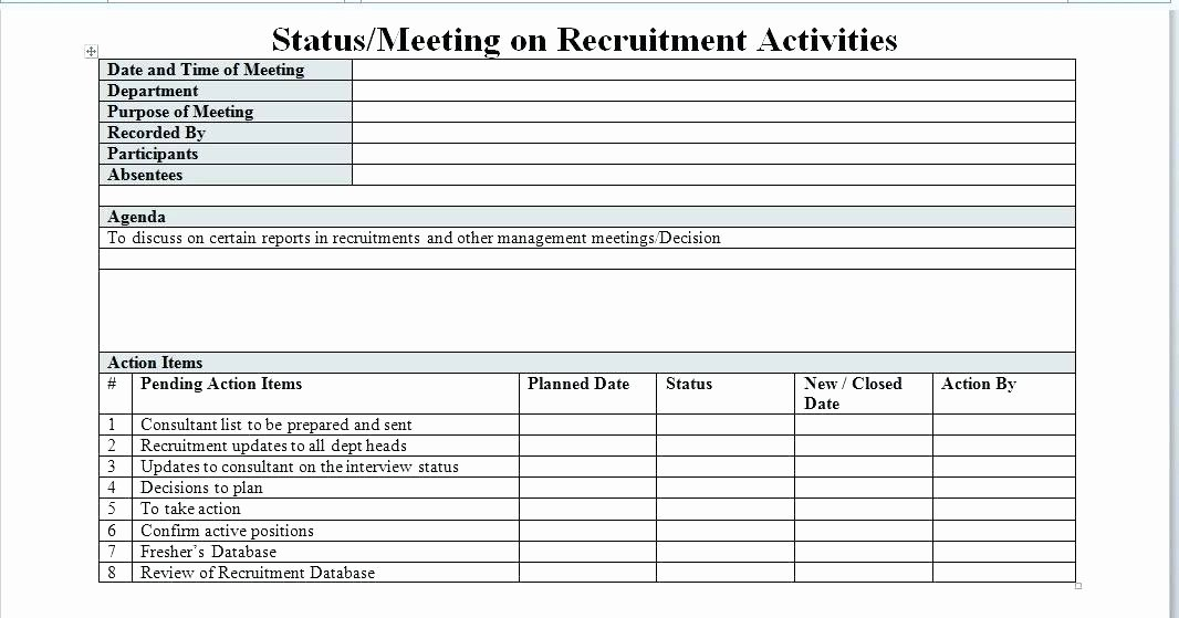 Recruitment Plan Template Excel Elegant Recruitment Action Plan Template – Azserverfo