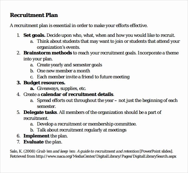 Recruitment Plan Template Excel Fresh Recruitment Plan Template