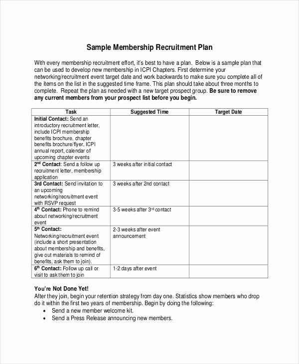 Recruitment Strategic Plan Template Inspirational Recruitment Plan Templates 9 Free Word Pdf format