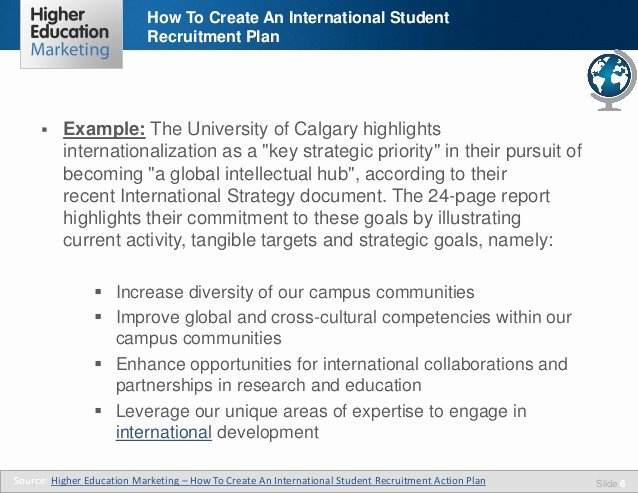 Recruitment Strategic Plan Template Lovely How to Create An International Student Recruitment Plan