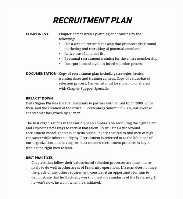Recruitment Strategic Plan Template New Recruitment Action Plan Template – Azserverfo