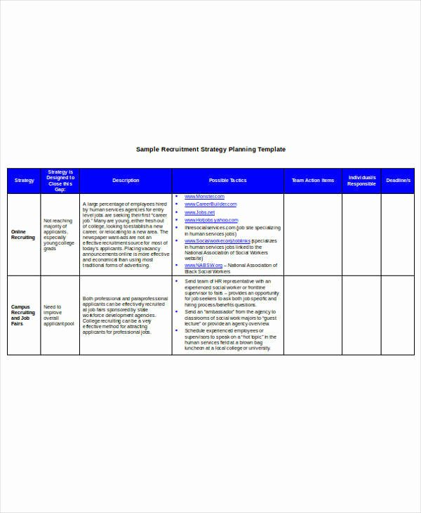 Recruitment Strategy Plan Template Awesome 9 Hr Operational Plan Samples & Templates – Pdf