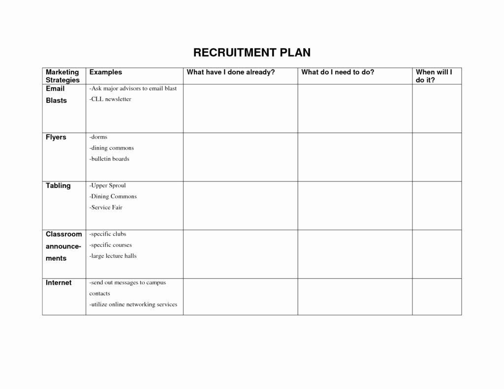 Recruitment Strategy Plan Template Best Of Strategic Recruiting Plan Template Tripdrip
