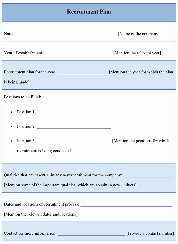 Recruitment Strategy Plan Template Inspirational Plan Template for Recruitment Template Of Recruitment