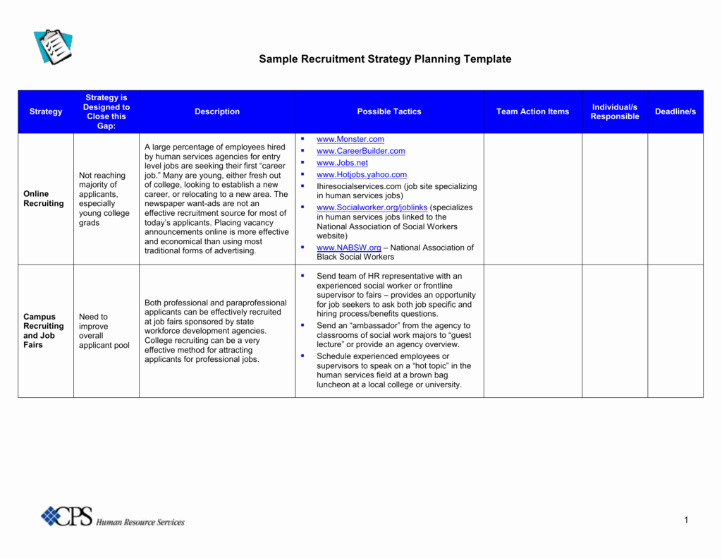 Recruitment Strategy Planning Template Elegant Student Recruitment Plan Template the Reason why Everyone