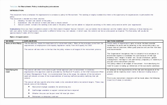 Recruitment Strategy Planning Template Unique Recruitment Strategy Planning Template