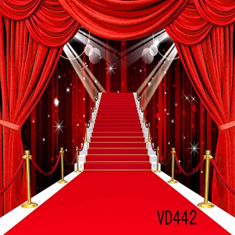 Red Carpet Backdrop Template Awesome 10x10ft Red Carpet Stage Vinyl Backdrop Graphy Props