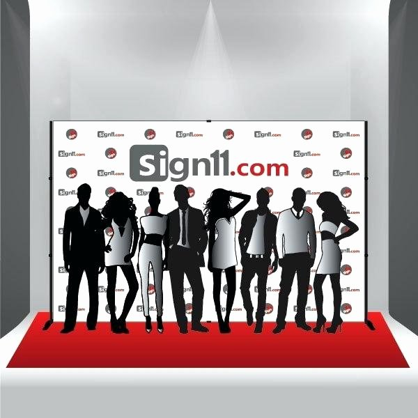 Red Carpet Backdrop Template Elegant Red Carpet Banners Step and Repeat Movie Premiere Logo