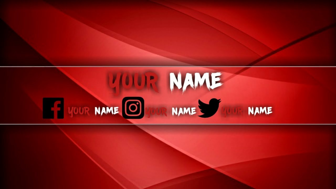 Red Youtube Banner Template Best Of Pre Made Red Youtube Banner to Pin On Pinterest