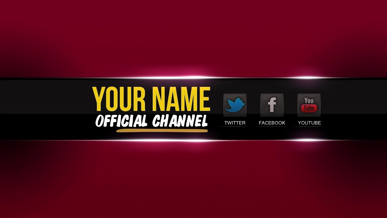 Red Youtube Banner Template Elegant Free Youtube Banner Template Psd │new 2015 ツ│ Direct