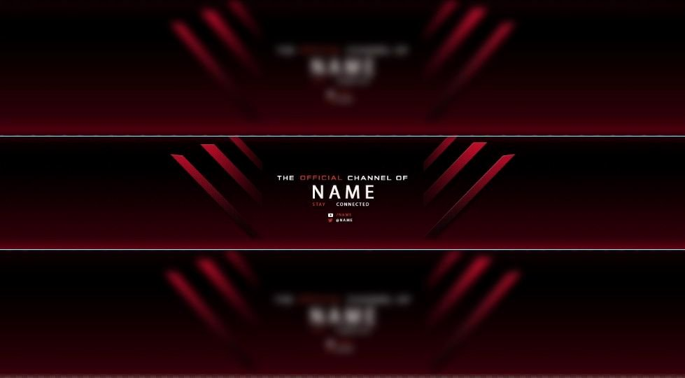 Red Youtube Banner Template Elegant Red Free Youtube Banner Templates
