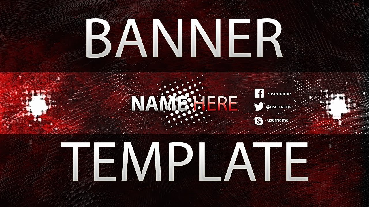 Red Youtube Banner Template Fresh Free Clean Red Youtube Banner Template 4 Tutorial How