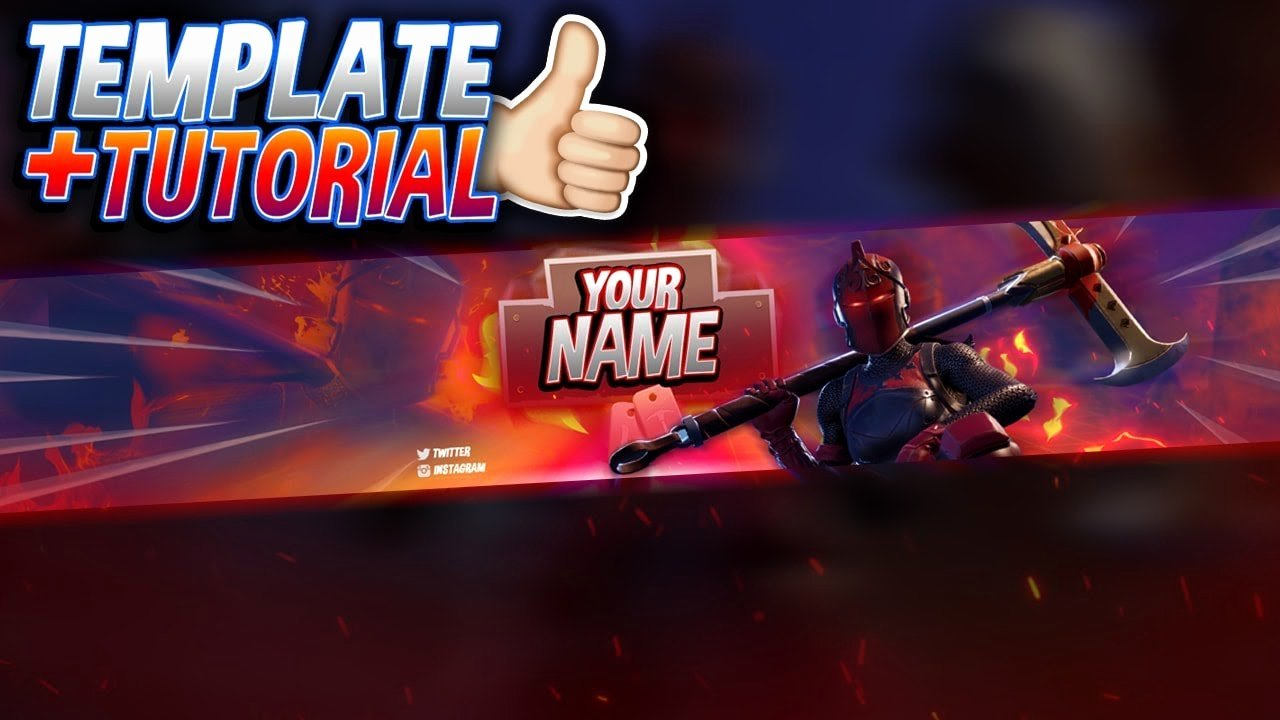 Red Youtube Banner Template Fresh Free Red Knight Banner Template