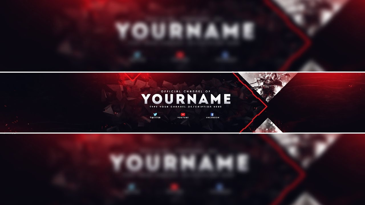 Red Youtube Banner Template Inspirational Header Template Gaming Banner Template