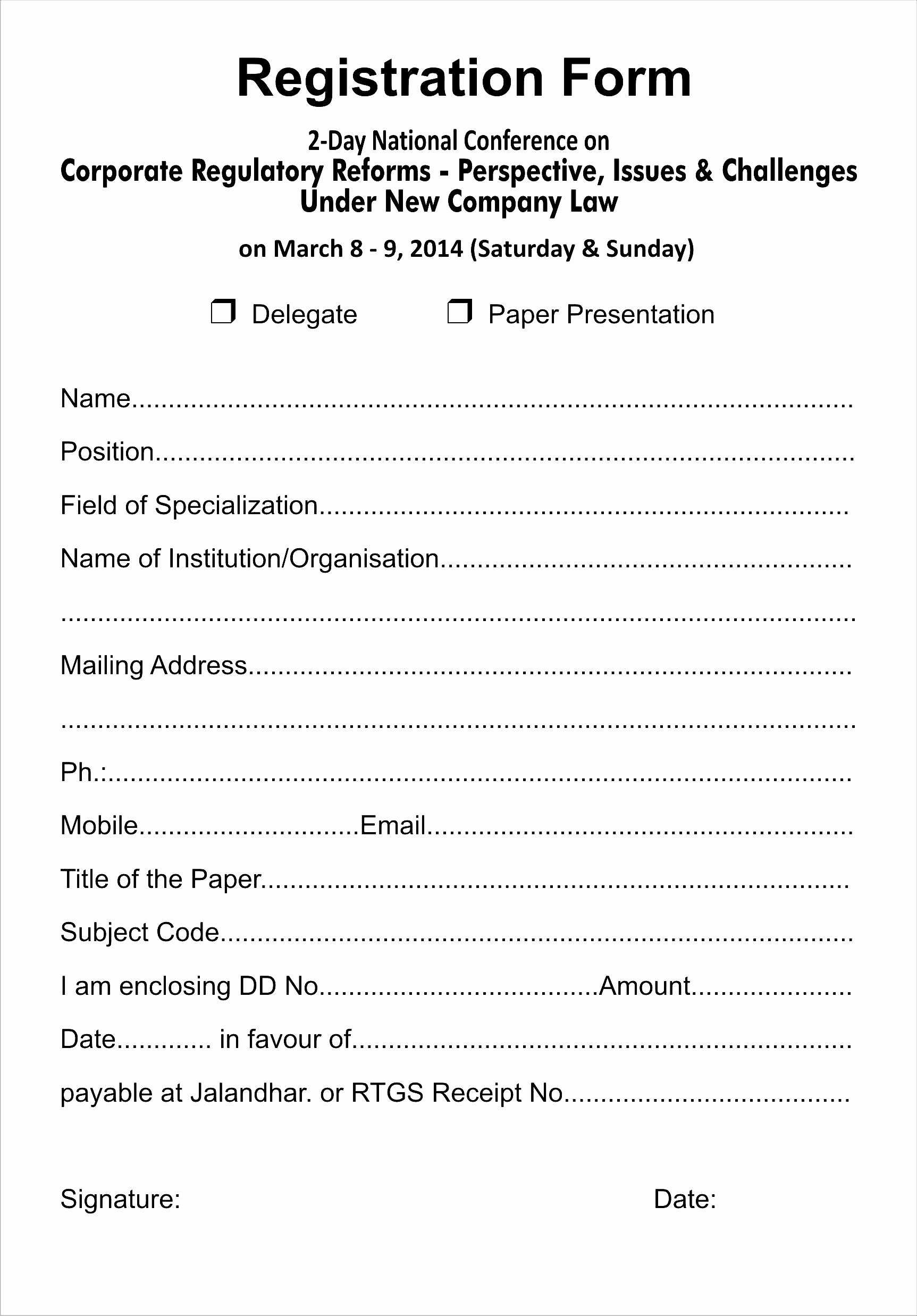 Registration form Template Word Beautiful event Registration form Template Word Bamboodownunder