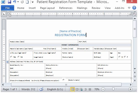 Registration form Template Word Best Of Medical form Templates Microsoft Word – Templates Free