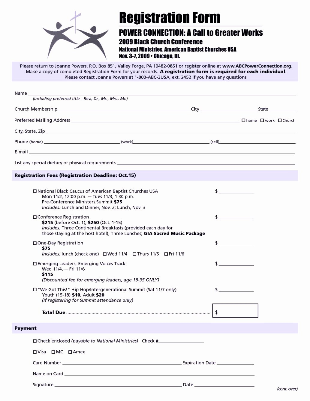 Registration form Template Word Lovely Church Conference Registration form Template Templates