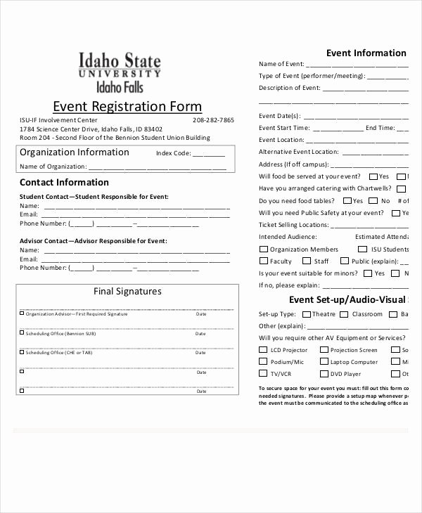 Registration forms Template Word Fresh Registration form Template 9 Free Pdf Word Documents