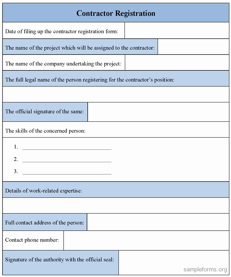 Registration forms Template Word Inspirational Registration form Template Excel