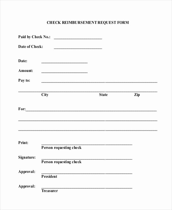 Reimbursement Request form Template Fresh Free Sample Check Request form Template Beautiful