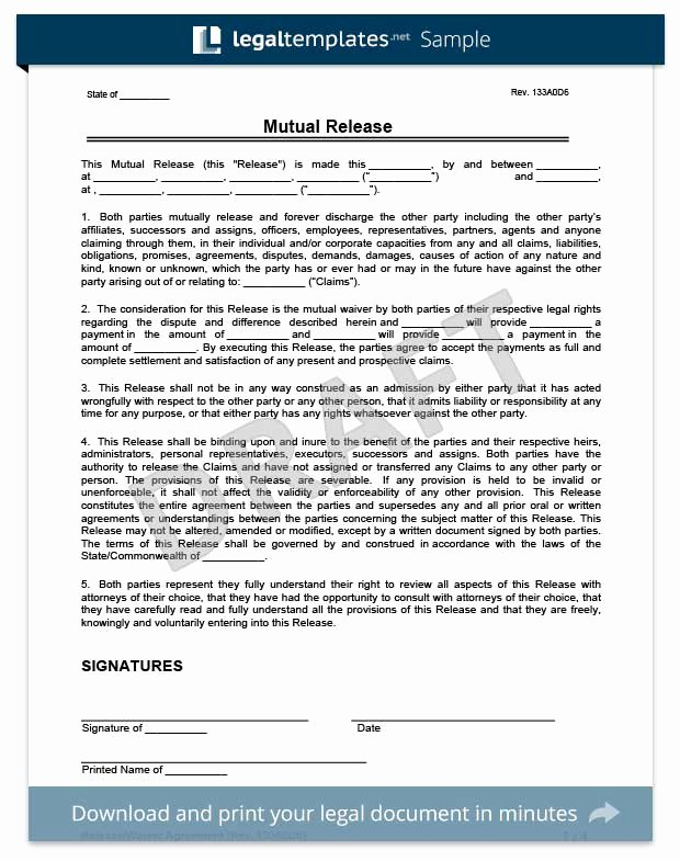 Release Of Liability Template Free Elegant Free Release Of Liability form