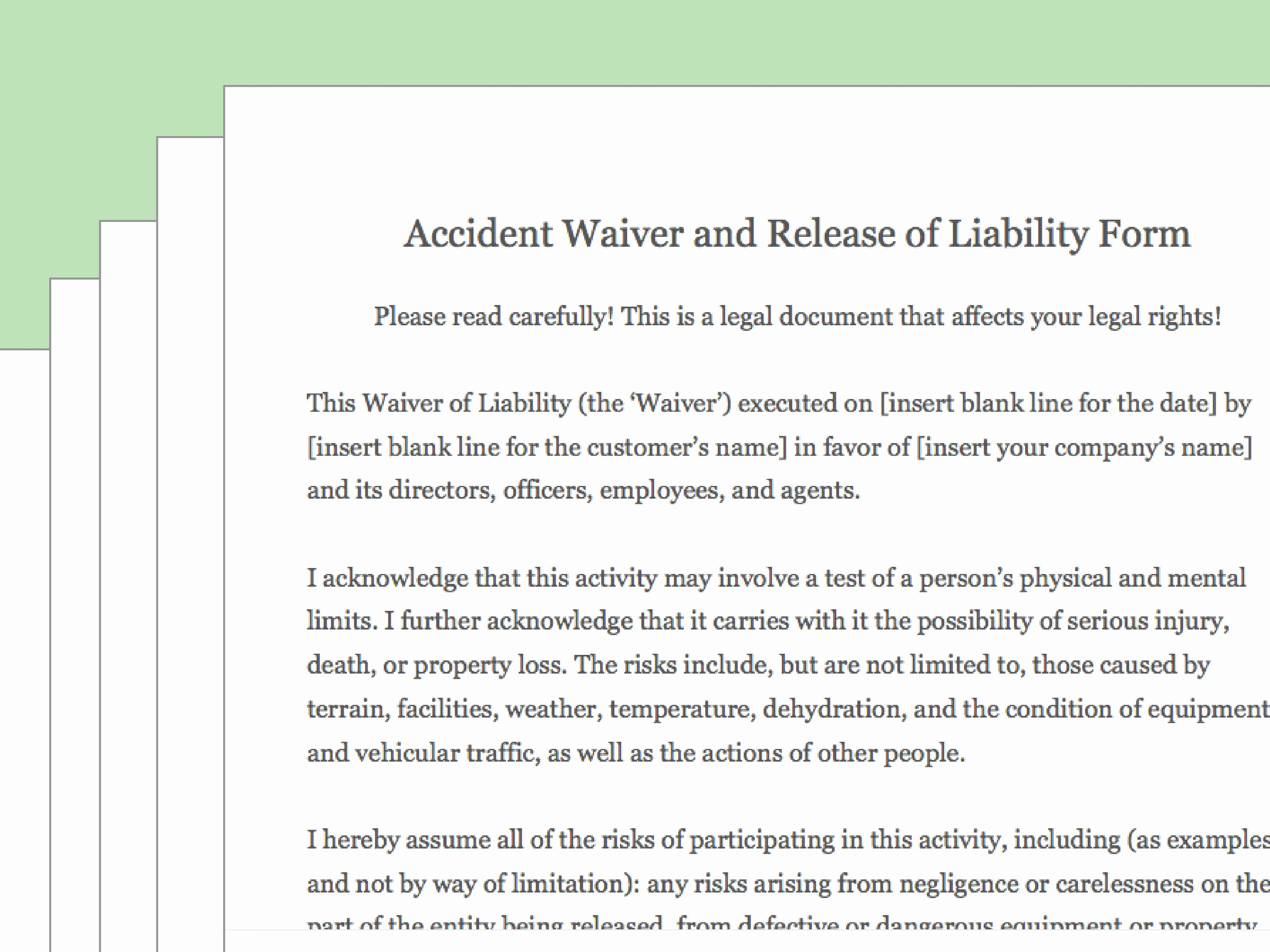 Release Of Liability Template Free Elegant How to Draft A Waiver Of Liability with Wikihow