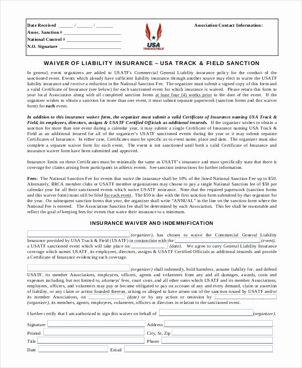 Release Of Liability Template Free Luxury 11 Liability Waiver form Templates Pdf Doc