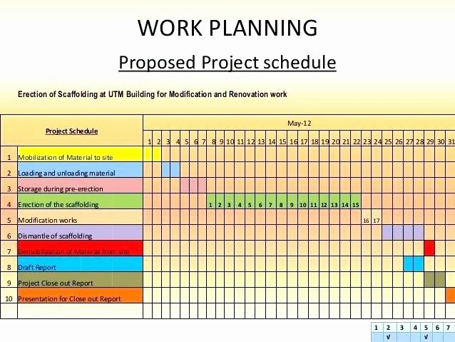 Remodel Project Plan Template Fresh Work Schedule format for Project