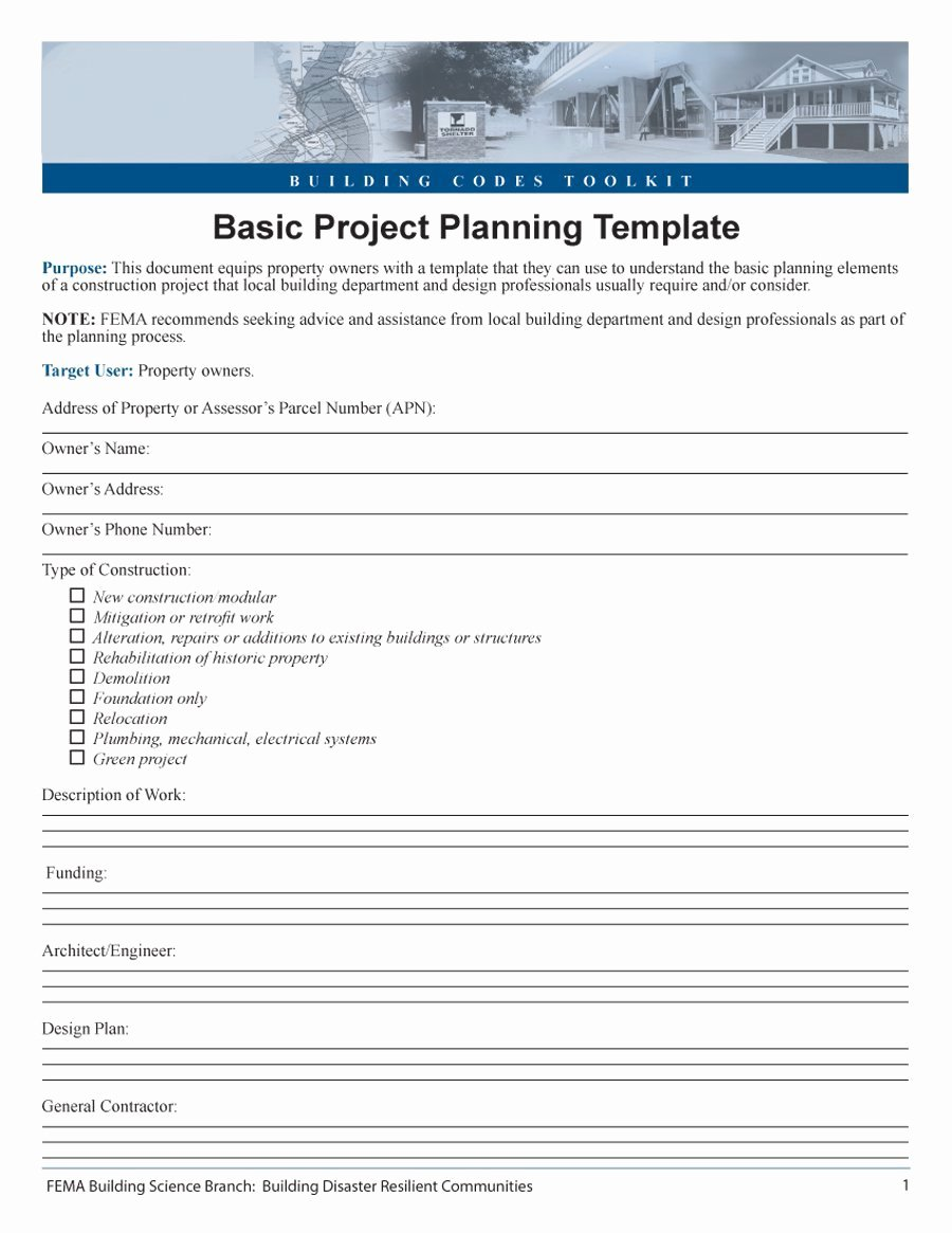 Remodel Project Plan Template Inspirational 48 Professional Project Plan Templates [excel Word Pdf