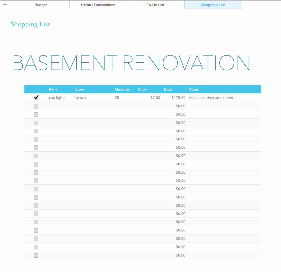Renovation Estimate Template Free Best Of Basement Renovation Bud —excel Template Rachel Rossi