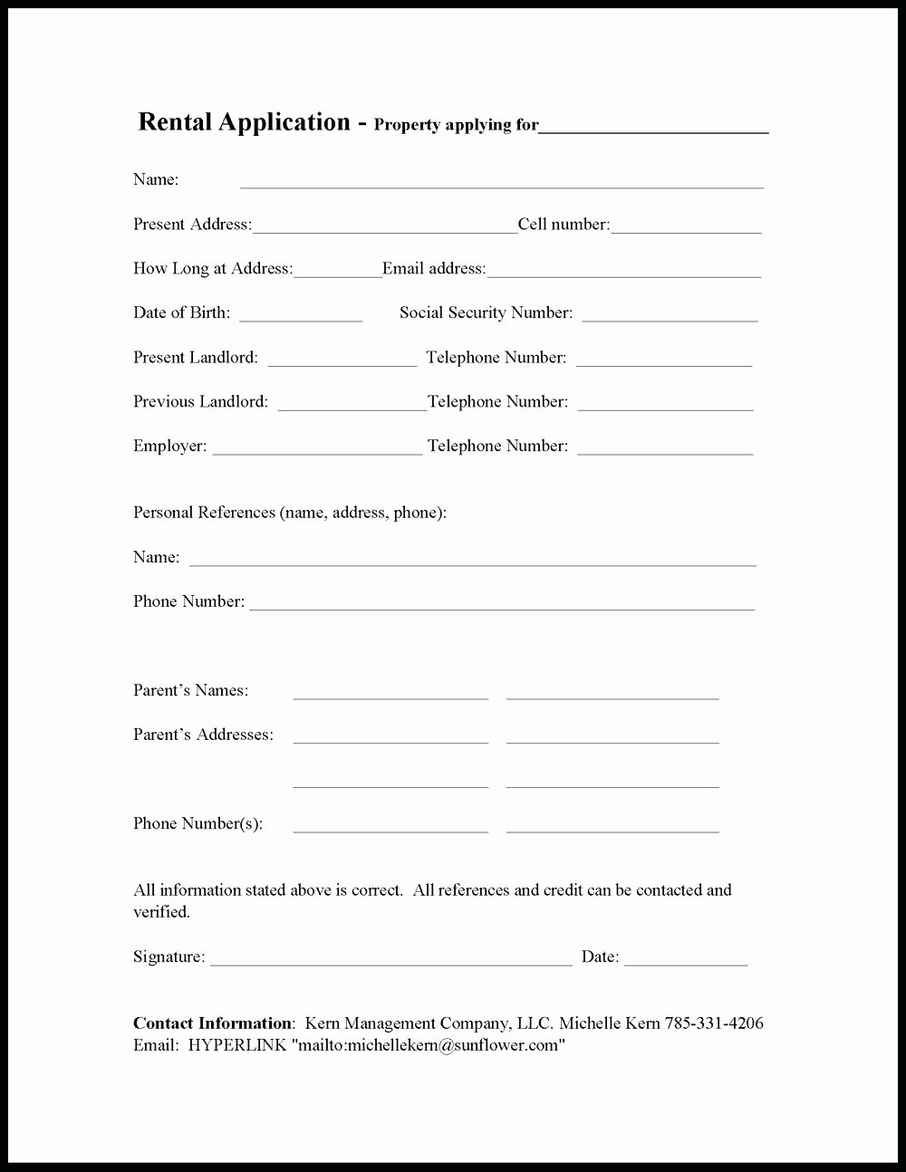 Rent Application form Template Awesome Template Rent to Own Lease Agreement Template