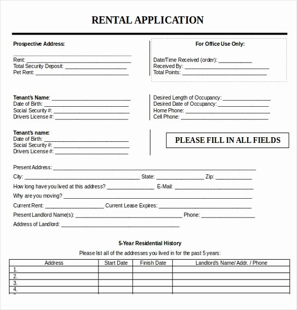 Rent Application form Template Beautiful 10 Free Download Rental Application Templates