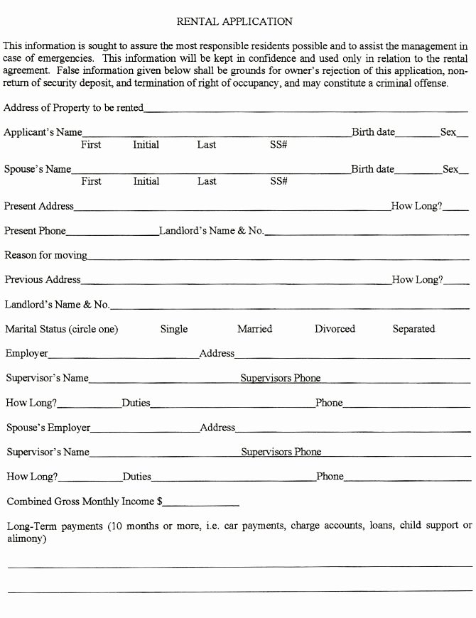 Rent Application form Template Best Of 502 Best Images About Rental Lease On Pinterest