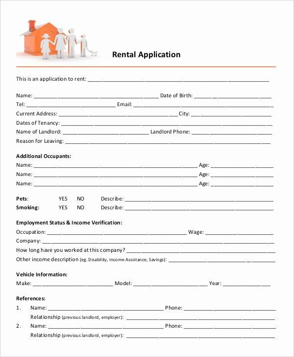 Rent Application form Template Elegant 17 Printable Rental Application Templates