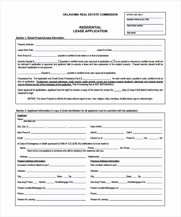 Rent Application form Template Inspirational Rental Application – 18 Free Word Pdf Documents Download