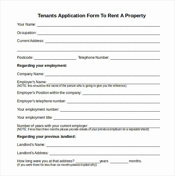 Rent Application form Template Lovely Sample Rental Inventory Template 18 Free Excel Pdf