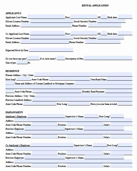 Rent Application form Template New Free Michigan Rental Application form – Pdf Template