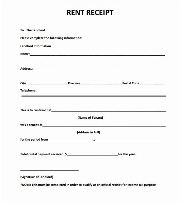 Rent Invoice Template Excel Luxury 6 Free Rent Receipt Templates Excel Pdf formats