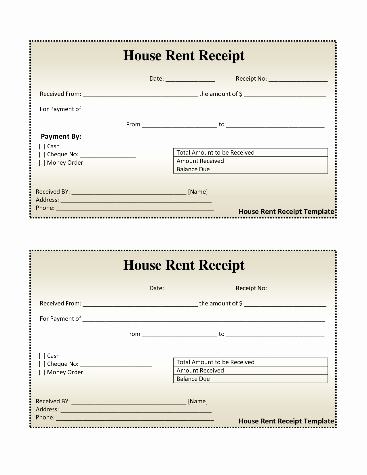 Rent Invoice Template Excel New Free House Rental Invoice