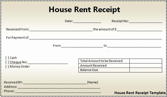 Rent Paid Receipt Template Awesome 16 House Rent Receipt format