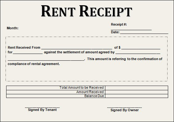 Rent Paid Receipt Template Awesome 21 Rent Receipt Templates