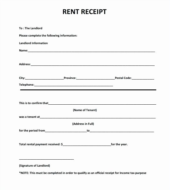 Rent Paid Receipt Template Beautiful Receipt Rent Template Payment Rental Receipts Sample Paid