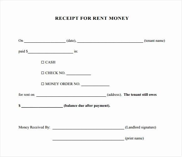Rent Paid Receipt Template Elegant 6 Free Rent Receipt Templates Excel Pdf formats