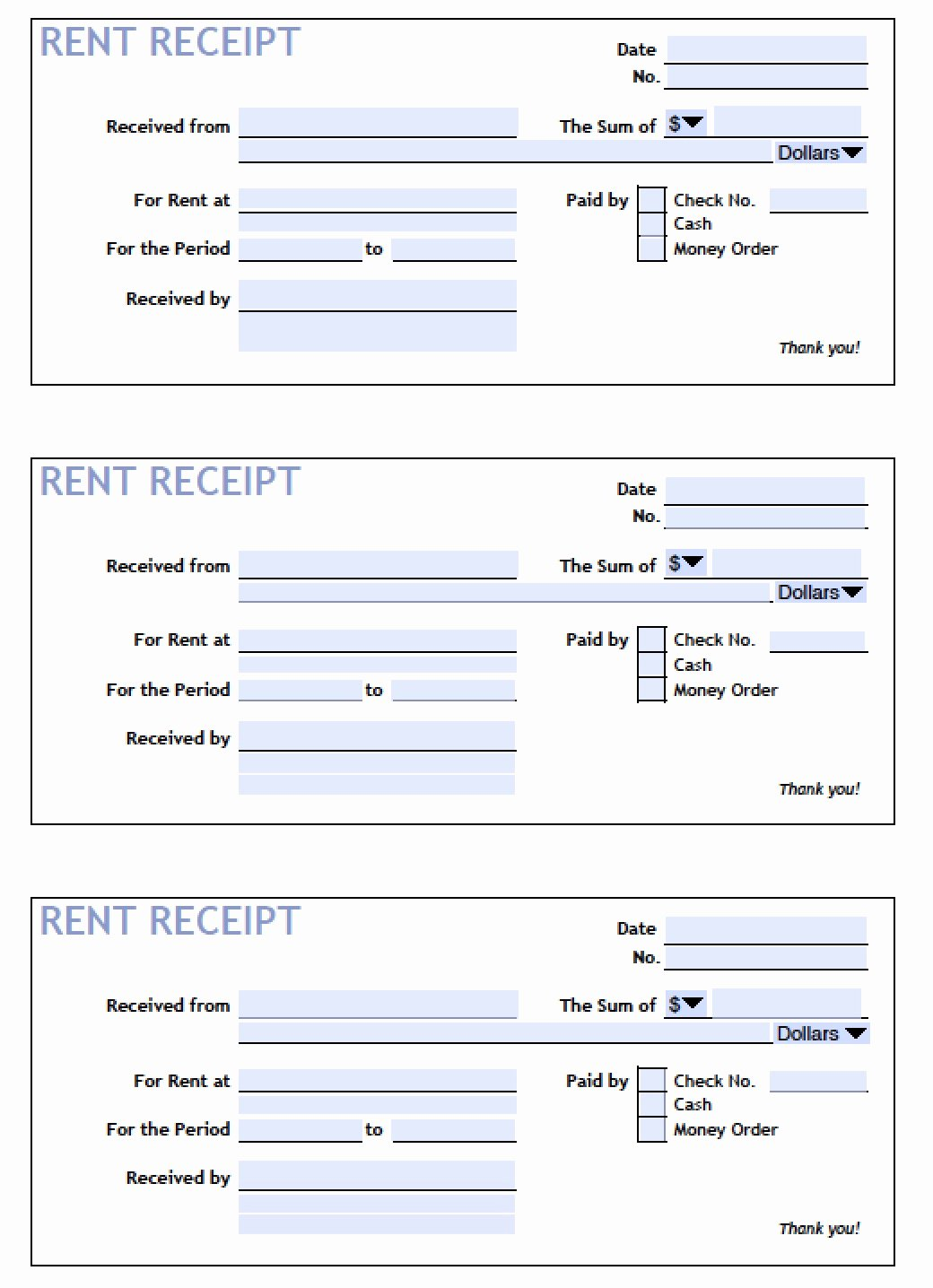 Rent Paid Receipt Template Fresh Download Printable Rent Receipt Templates Pdf
