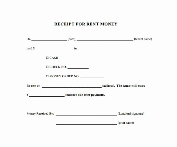 Rent Paid Receipt Template Lovely 21 Rent Receipt Templates