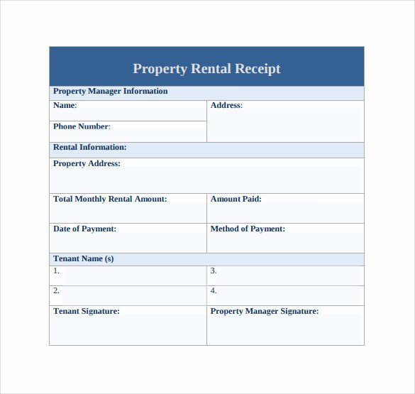 Rent Paid Receipt Template Luxury 21 Rent Receipt Templates